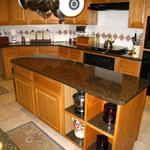 Custom Avonite counter tops.  Client chose color, The Quint Company fabricated and installed final product.