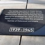 Pressure Washed, Sand Blasted, Painted memorial roof tiles at Holocaust Museum Houston. Also designed, fabricated and installed custom granite plaque.